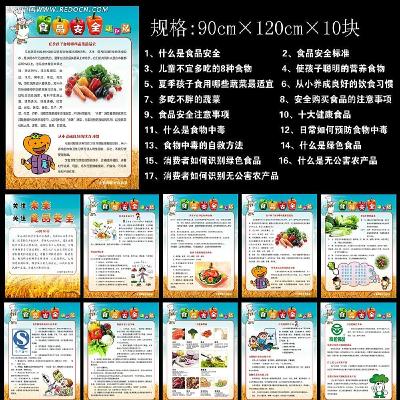 食品安全小常识展板设计