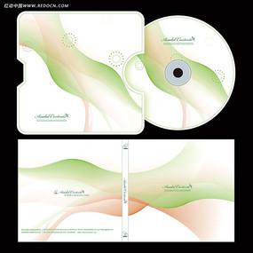 绿色时尚光盘封面设计