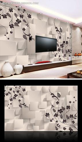 客厅3D电视背景墙图片
