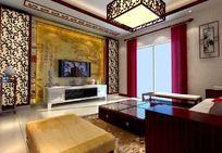 中式木雕客厅