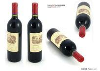 拉菲2005年红葡萄酒特写