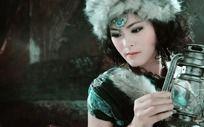 蒙古族女孩写真艺术照