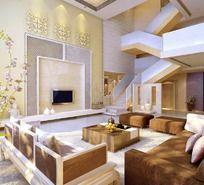 别墅家居设计客厅效果图设计