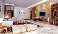 豪华中式客厅设计效果图