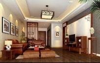 木式家居设计客厅效果图设计