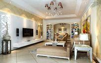 欧式豪华家居设计客厅效果图设计3D图片