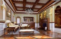 欧式豪华家居设计客厅效果图设计
