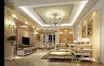 欧式豪华唯美室内设计个性客厅效果图