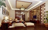 古代风格客厅设计效果图