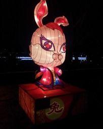 十二生肖兔彩灯造型