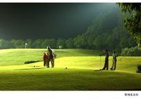 灯光高尔夫球场