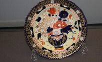 19世纪德比手绘花卉托盘