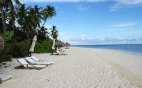 海滩上的休息区