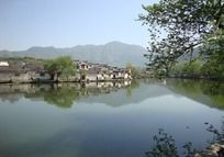 宏村水乡村落风景