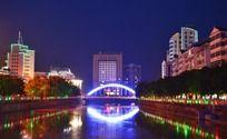 武平县彩虹桥夜景