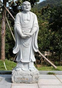 十八罗汉之探手尊者石雕