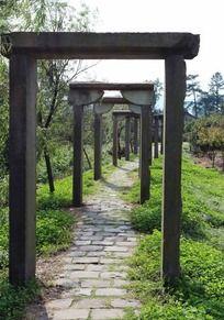 天童景区老遗址走廊