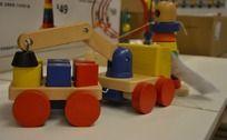 小木头火车模型