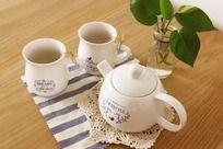 小清新陶瓷牛奶壶杯子家居生活用品