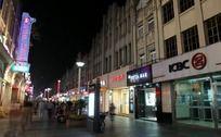 繁华的温州商业中心五马街夜景