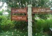 公园的指路牌