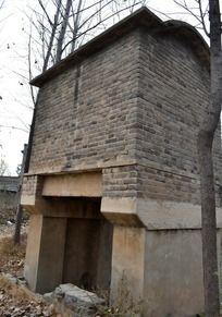 70年代的分支水闸背面