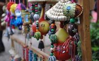 一串串的葫芦饰品