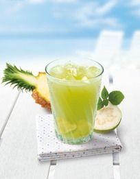 凤梨番石榴饮料摄影图