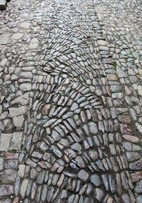 龙鳞形鹅卵石纹路