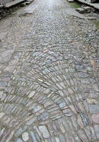古街上龙鳞形石子纹路