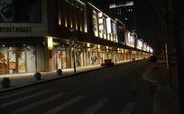 沈阳商业街街头夜景