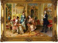 宫廷油画喷绘稿