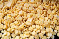金黄色玉米片