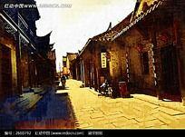 岭南建筑油画