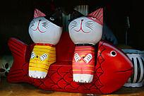 木鱼和木猫