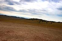 草原上风云变幻的天空