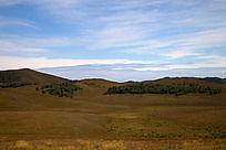 蔚蓝天空下的草原