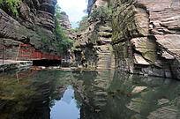 郭亮村的绝美水景和峡谷