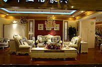 欧式豪华的客厅效果图