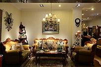 欧式客厅里的沙发