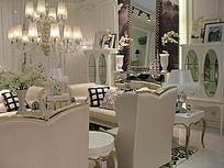 白色的欧式客厅