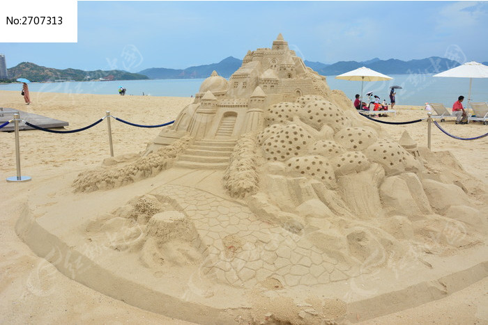沙滩城堡图片