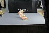 粉色小香鱼嘴鞋