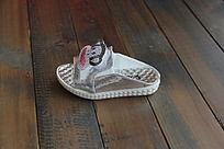 时尚银色大嘴猴拖鞋
