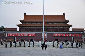 北京天安门升旗仪式