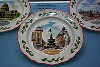 欧洲风景纪念瓷盘
