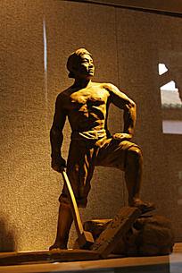 革命时期工人雕像