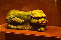 狮形陶瓷枕