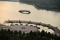 焦作龙源湖水景