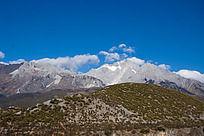 玉龙雪山以及高山植被